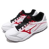 Mizuno 慢跑鞋 Maximizer 21 Wide 白 紅 網布 透氣輕量 男鞋 運動鞋【PUMP306】 K1GA1900-61