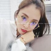 現貨-韓國ulzzang原宿復古金屬眼鏡熱賣復古近視眼鏡框女韓版潮小臉眼鏡架圓形全框超輕近視平光