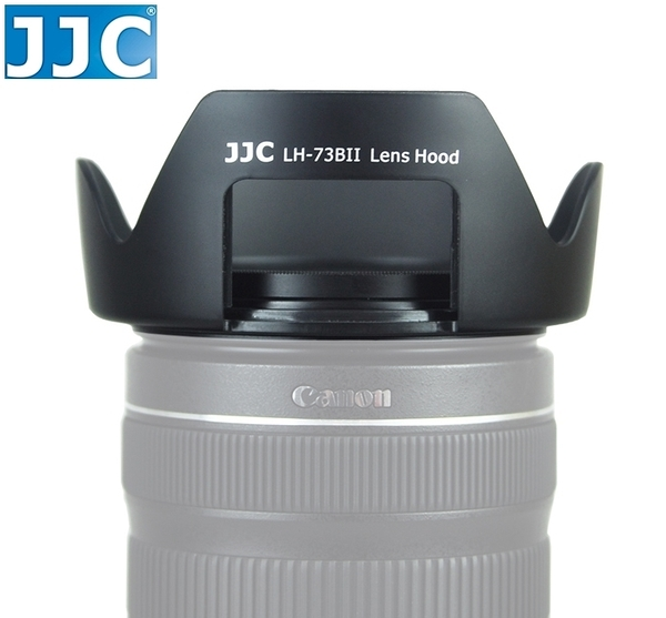 又敗家@JJC佳能18-135mm 17-85mm f3.5-5.6 IS STM副廠Canon遮光罩相容Canon原廠遮光罩EW-73B遮光罩太陽罩遮罩