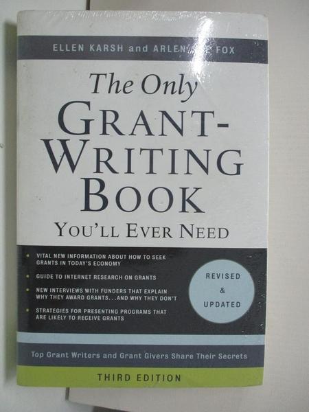 【書寶二手書T9/原文書_DWW】The Only Grant-Writing Book You'll Ever Need_Karsh, Ellen/ Fox, Arlen Sue