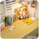 格子桌布學生書桌茶幾日式布藝棉麻簡約北歐電腦少女心桌墊 花樣年華