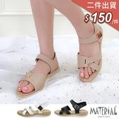 涼鞋 造型側魔鬼氈涼鞋 MA女鞋 T5405