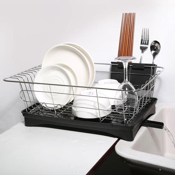 不銹鋼廚房置物架餐具碗筷碗碟收納盒瀝水架家用單層雙層碗碟盤架 牛年新年全館免運
