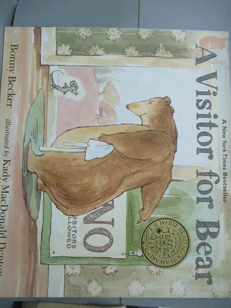 【書寶二手書T2/少年童書_PHD】A Visitor for Bear_Becker, Bonny/ Denton,