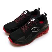 LIKA夢 LOTTO 專業避震氣墊慢跑鞋 VOLARE RUN系列 黑紅 1130 男
