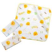 黃色小鴨 印圖紗布手帕(3入)  81659 好娃娃