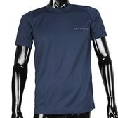 BURBERRY輕著圓領貼身透氣上衣(深藍色)085189-4
