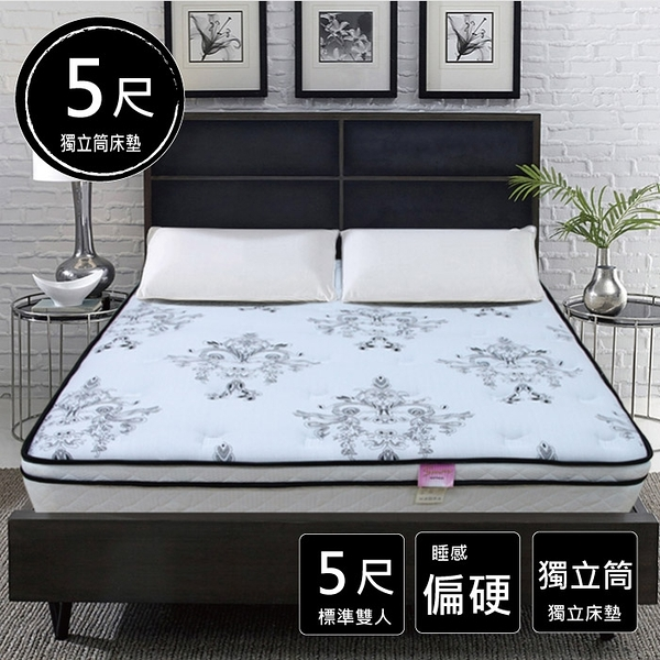 床墊 / 綺夢 硬式獨立筒床墊 標準雙人 5*6.2尺 B22 愛莎家居