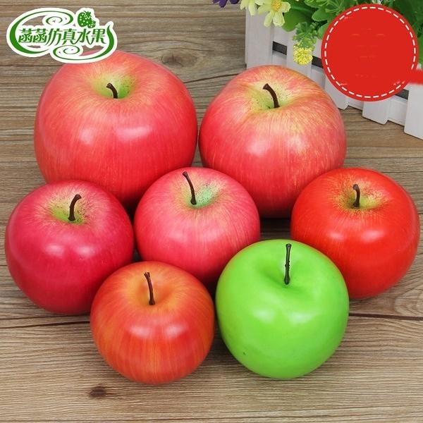 假蘋果 青蘋果金蘋果仿真水果蔬菜模型道具聖誕節假水果裝飾擺件(加重)─預購CH3089