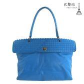 【巴黎站二手名牌專賣店】*現貨*BOTTEGA VENETA BV*經典編織肩背/手提包(藍)