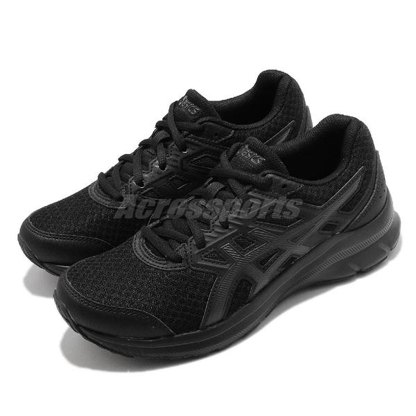 Asics 慢跑鞋 Jolt 3 寬楦頭 女鞋 全黑 韓國 穿搭鞋 基本款【ACS】 1012A909002