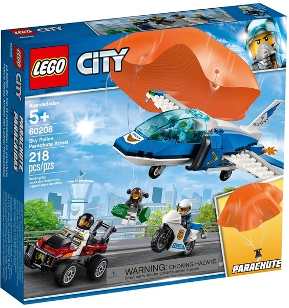 樂高LEGO CITY 航警降落傘追捕 Sky Police Parachute Arrest 60208 TOYeGO 玩具e哥