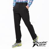 PolarStar 男防潑水保暖紳士褲『黑』P19417 休閒褲.登山褲.運動褲.保暖褲.吸濕排汗.台灣製造.MIT