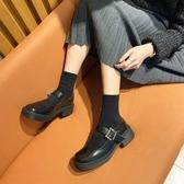 女瑪麗珍鞋 小皮鞋女新款秋季百搭女鞋瑪麗珍單鞋粗跟女鞋【快速出貨】