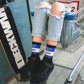 拖鞋襪子女潮牌中筒襪韓版棒球襪滑板個性嘻哈街頭高腰長款襪原宿   提拉米蘇