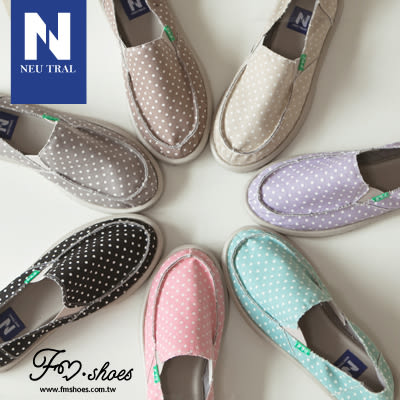 休閒鞋.點點元素彈性帶懶人包鞋(卡其、紫