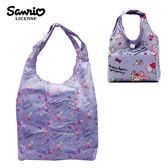 紫色款【日本正版】美樂蒂 摺疊 購物袋 環保袋 手提袋 防潑水 My Melody 三麗鷗 Sanrio - 466961