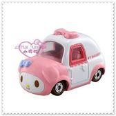 小花花日本精品♥ Hello Kitty 美樂蒂小汽車玩具車模型車粉大臉50054701