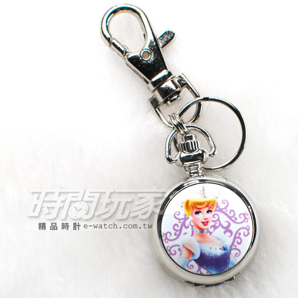 迪士尼 Disney 灰姑娘 仙杜瑞拉 小懷錶 吊飾 鑰匙圈 數字懷錶 日本機芯 卡通 PW灰姑娘A