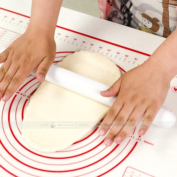 Bread leaf  白色立體顆粒設計桿麵棍【B027】  排氣棍
