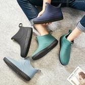 雨鞋男廚房鞋保暖水鞋防水防滑男士加絨低幫雨靴短筒膠鞋 歐韓流行館