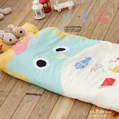 【R.Q.POLO】科美爾 絲棉柔/兒童冬夏兩用鋪棉書包型睡袋(4.5X5尺)