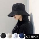 OT SHOP帽子‧可摺疊純色超透氣棉‧...