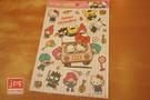 SANRIO 三麗鷗家族 可愛造型大貼紙 透明貼紙 吊帶褲好朋友 952767