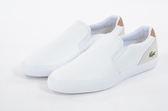 LACOSTE 男鞋 白色 JOUER SLIP ON 118 3 CAM 70%皮革/ 30%人造纖維 - 鞋款( 35CAM0047-Y05) 18A