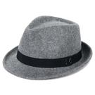 兩頭門新款男士純羊毛小禮帽中老年秋冬毛呢保暖戶外英倫爵士帽子 艾瑞斯