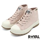 Palladium Pallashock 玫瑰粉色 帆布 高筒 厚底5CM 休閒鞋 女款 NO.B2245【新竹皇家 76681-629】