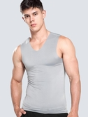 背心 男士背心男夏季修身型緊身青年運動跨欄無袖內衣打底汗衫 莎瓦迪卡