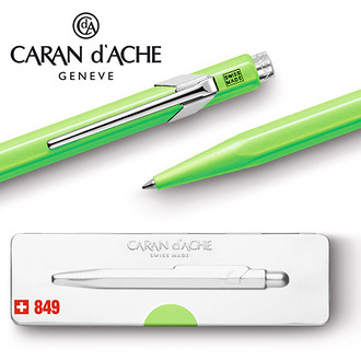CARAN d'ACHE 瑞士卡達 849.730 Pop Line 原子筆 蘋果綠 / 支