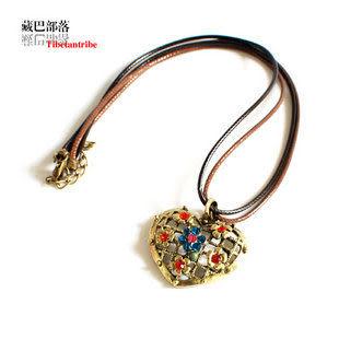 波西米亞複古銅藏飾民族風格項鏈