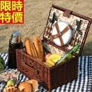 野餐籃餐具組合編織籃子-田園休閒四人套組郊遊用品68e20【時尚巴黎】