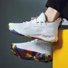 男女籃球鞋2020新款運動鞋 高幫水泥地耐磨戰靴 減震男士籃球鞋子