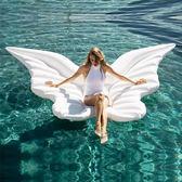 泳圈天使翅膀水上充氣浮床成人大游泳圈火烈鳥婚紗照攝影道具 貝兒鞋櫃
