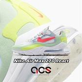 Nike 休閒鞋 Wmns Air Max 270 React 白 紅 女鞋 氣墊 厚底 運動鞋 【ACS】 DB5927-161