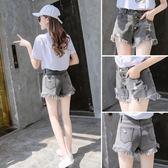 牛仔短褲女夏韓版寬鬆學生百搭高腰港味復古