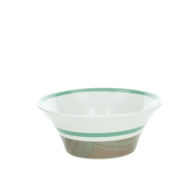 【義大利Tognana】ARENA 簡約水果碗(沙拉碗/ 早餐碗/翡翠綠邊/ 14x5.5cm)