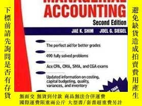 二手書博民逛書店Schaum s罕見Guideline Of Managerial AccountingY307751 Jae