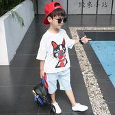 童裝男童夏裝套裝兩件套潮衣