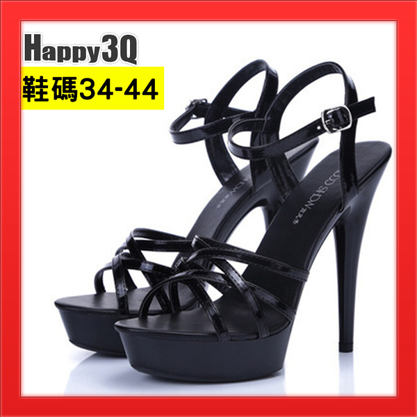 細跟高跟鞋超高跟13cm女鞋子歐美風Show girl涼鞋-白/黑/紅34-41【AAA4750】預購