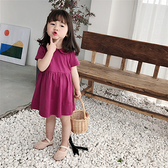 女童裝夏款新款韓版中小童寶寶公主裙子娃娃領洋氣兒童洋裝 秋季新品