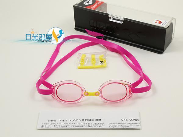 *日光部屋* arena (公司貨)/AGL-190PA-PNK 競泳/無墊式/加強防霧/小鏡面泳鏡