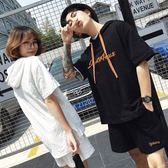 新款韓版刺繡連帽短袖T恤套裝LVV2944【KIKIKOKO】