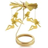 歐沛媞 歐式旋轉燭罩蠟燭台-金-性感女郎 加贈YANKEE CANDLE 香氛蠟燭49g