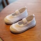 兒童小白鞋 春夏秋季兒童鞋子帆布鞋男女童寶寶軟底百搭舞蹈鞋子-Ballet朵朵