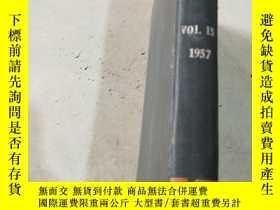 二手書博民逛書店light罕見metals Vol.15 1957 輕金屬Y21