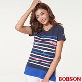 BOBSON女款條紋上衣(26105-53)
